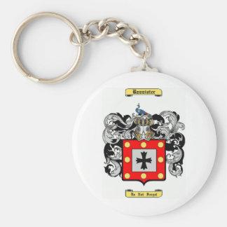 Bannister Basic Round Button Keychain