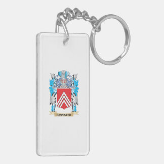 Bannister Coat of Arms Double-Sided Rectangular Acrylic Keychain