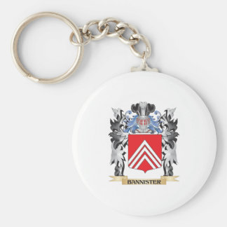 Bannister Coat of Arms - Family Crest Basic Round Button Keychain