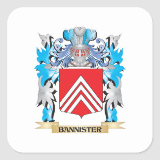 Bannister Coat of Arms Square Sticker