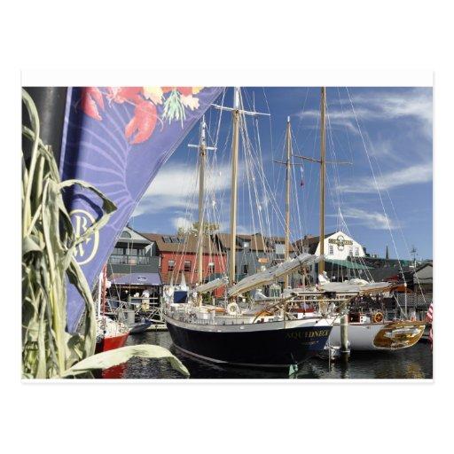 Bannisters wharf postcard