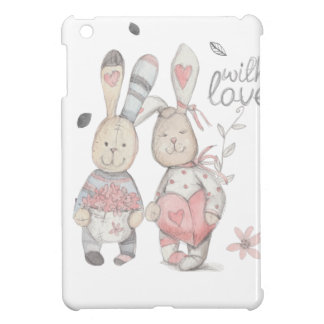 banny rabbit couple 2 case for the iPad mini