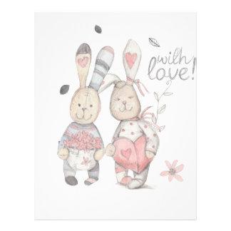 banny rabbit couple 2 letterhead