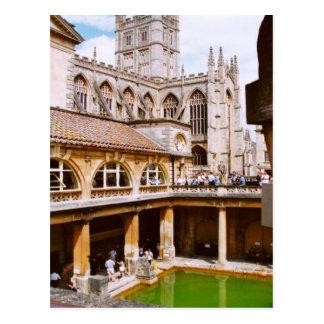 Baño, baños romanos y abadía del baño postales