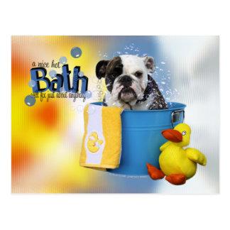 Baño caliente - dogo inglés - Delilah Tarjeta Postal