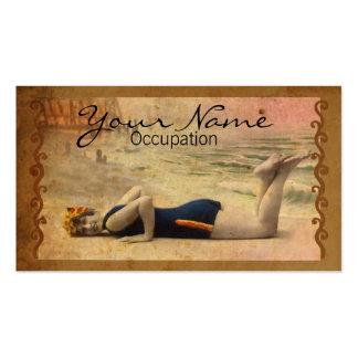 Baño de belleza tarjeta de negocio
