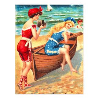 Baño de bellezas postales