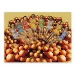 Baño de bellezas y de los naranjas postales