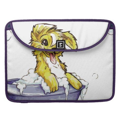 Baño de burbujas del perrito fundas para macbooks
