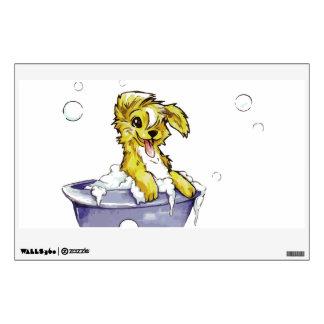Baño de burbujas del perrito vinilo decorativo