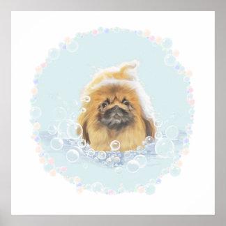 Baño de burbujas póster