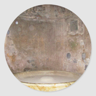 Baño de Caldarium en Pompeya Pegatina Redonda