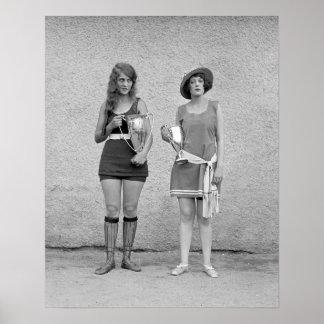 Baño de concurso de belleza, 1922. Foto del Póster
