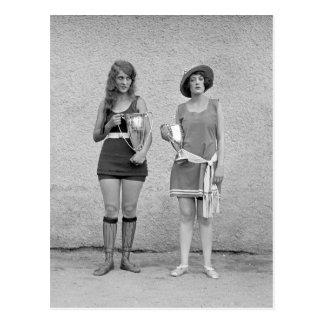 Baño de concurso de belleza, 1922 postal