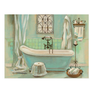 Baño de cristal de la teja postales