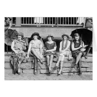 Baño de encanto del vintage de la competencia del tarjeta de felicitación