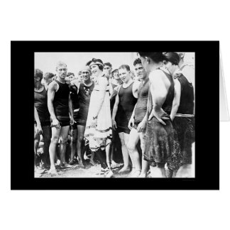Baño de la belleza y de sus admiradores 1915 tarjeta de felicitación