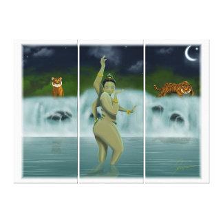 Baño de la diosa impresiones en lienzo estiradas