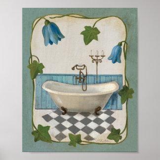 Baño de la flor de Bell Póster