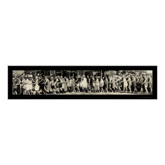 Baño de la foto 1918 de la playa de la moda posters
