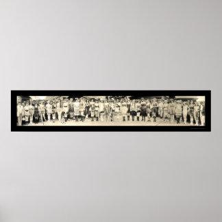 Baño de la foto 1920 del desfile del chica poster
