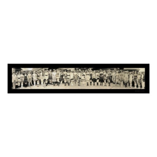 Baño de la foto 1920 del desfile del chica póster