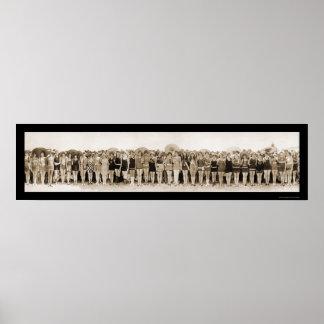 Baño de la foto 1925 del concurso de belleza póster