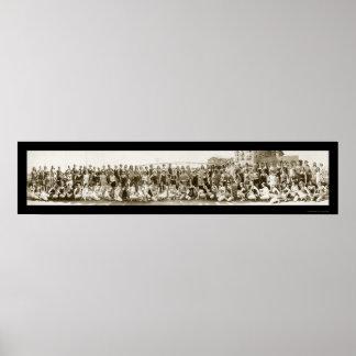 Baño de la foto 1927 del desfile de la belleza póster