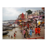 Baño de la tarde en Varanasi Tarjetas Postales