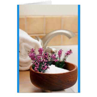 Baño de la tarde tarjeta de felicitación