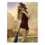 Baño de las bellezas del pasado postal
