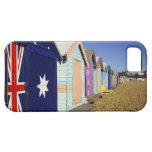 Baño de las cajas, playa media de Brighton, puerto iPhone 5 Case-Mate Funda