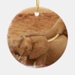 Baño de los ornamentos del elefante del bebé ornamento para arbol de navidad