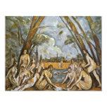 Baño de Paul Cézanne (la mejor calidad) Invitación 10,8 X 13,9 Cm