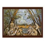 Baño de Paul Cézanne (la mejor calidad) Postal