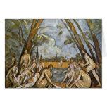 Baño de Paul Cézanne (la mejor calidad) Felicitación