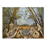 Baño de Paul Cézanne (la mejor calidad) Tarjetas Postales