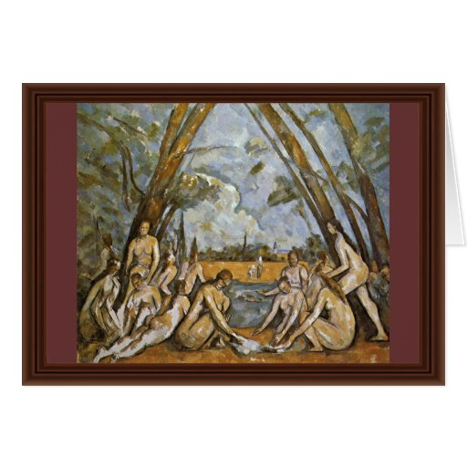 Baño de Paul Cézanne (la mejor calidad) Tarjeton