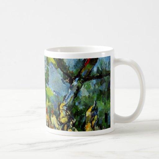 Baño de Paul Cézanne (la mejor calidad) Taza Básica Blanca