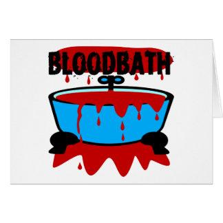 Baño de sangre con sangre y la tina felicitaciones