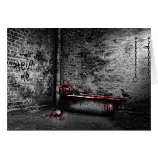 Baño de sangre tarjeta de felicitación
