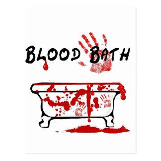 Baño de sangre tarjeta postal
