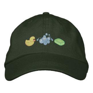 Baño del bebé gorras bordadas