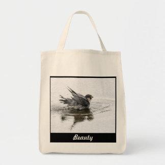 Baño del bolso o del tote de la belleza bolsa tela para la compra