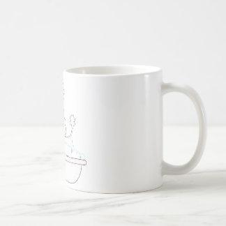 Baño del caniche taza de café