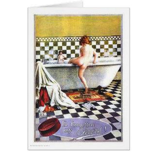 Baño del niño del jabón de las peras tarjetas