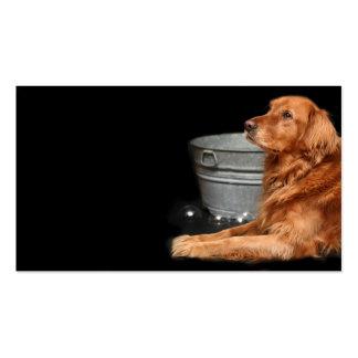 Baño del perro tarjetas de visita