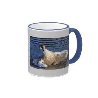 Baño del pollo del cisne taza