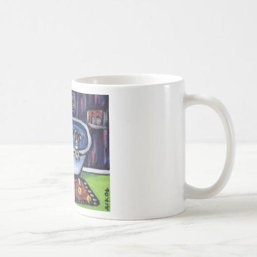 Baño del terrier de rata taza de café