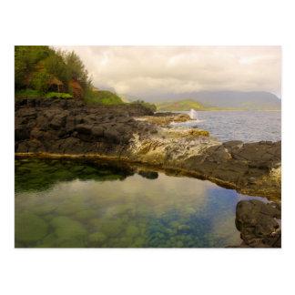 "Baño el ""de la reina,"" Kauai, Hawaii. Postal"